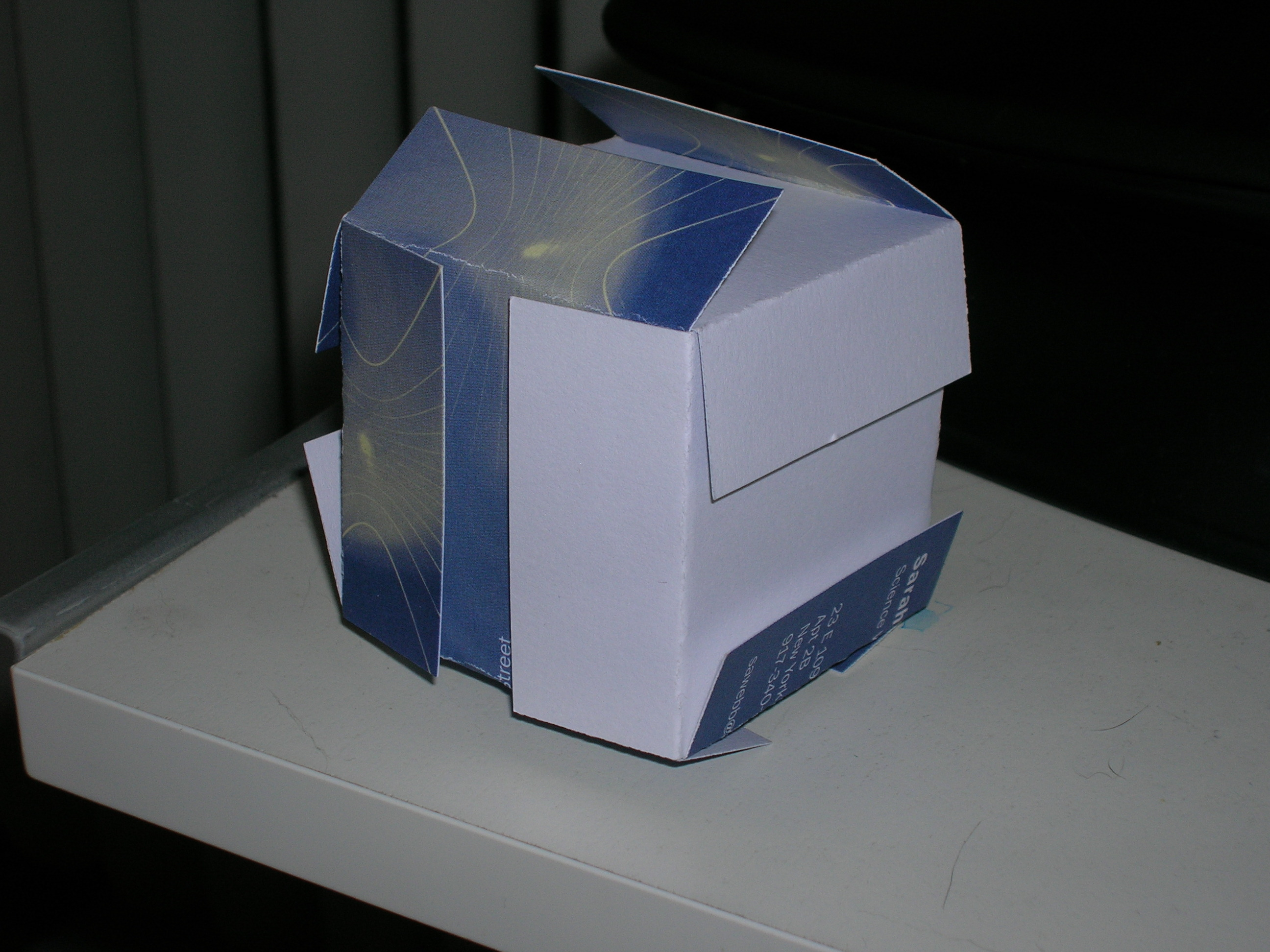 cube made from my old business cards