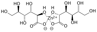 Zinc gluconate structure from Wikimedia Commons